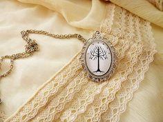 Herr der Ringe Halskette weißen Baum von von SunandStarsJew3lry