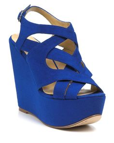 royal blue wedges. I want these for 'something blue'