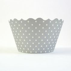 Shiney Silver Cupcake Wrappers set includes 12 (one dozen)