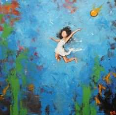 Print Leap 273 20x20 inch Print from oil painting by Roz by RozArt, $55.00