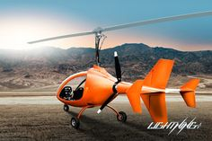 Lightning is an innovative project designed and manufactured by Niki Rotor Aviation. Notice the inline prop on this gyroplane.