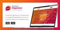 Buy Event Organizer - Conference PSD Template by ExproStudio on ThemeForest. WordPress Version Also Available Here Event Organizer – For Conferences and Events is a modern design template for co. Event Planning Template, Event Planning Tips, Event Website, Website Themes, Theme Template, Planner Template, Html Website Templates, Psd Templates, Wordpress Template