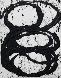 Richard Serra - July #7, 2011. Paintstick on handmade paper