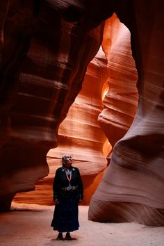 """She discovered Antelope Canyon. The Navajo name for Upper Antelope Canyon is Tsé bighánílíní, which means """"the place where water runs through rocks."""" Lower Antelope Canyon is Hazdistazí , or """"spiral rock arches."""" Both are located within the LeChee Chapter of the Navajo Nation, Arizona, USA"""