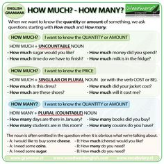The difference between HOW MUCH and HOW MANY in English - Grammar