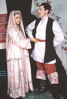 female and male costumes