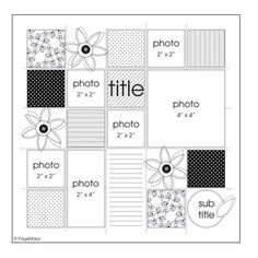 6 pictures - 4 x 4 (1), 2 x 4 (1), 2 x 2 (4)