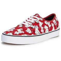 Vans Vans Disney Dalmatians Authentic ($79) ❤ liked on Polyvore featuring shoes, sneakers, vans footwear, vans trainers, vans shoes and vans sneakers