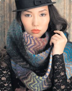 Chevon Scarf - Free pattern.  I may just pause with my crochet and pick up my knitting needles for this one.