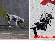 An artist who defaced several works of famed graffiti artist Banksy has been charged with the crime of vandalism -- which is pretty incredible since Banksy's collection is itself an act of vandalism. Banksy Art, Graffiti Art, Land Art, Public Art, Crime, The Incredibles, Horses, Artist, Photography