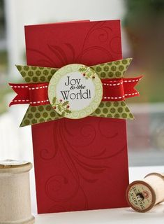 Joy to the World card by Lisa Johnson for Papertrey Ink (November 2011).