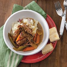 Enjoy this eye of round roast over buttery mashed potatoes. Getmore great traditional Southern recipes by ordering yoursubscription toCooking with Paula Deen today!