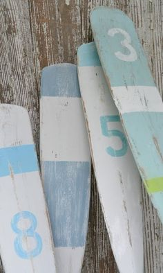 Cool numbered oars by Gigi643