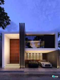 Fachadas de casas modernas de dos pisos Fachadas casas minimalistas Fachadas de casas modernas Casas modernas