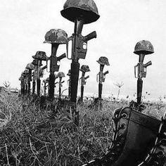 Memorials to the dead...