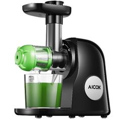 Juicer Machines Aicok Slow Masticating Juicer Extractor Easy to Clean Quiet Motor & Reverse Function BPA-Free Cold Press Juicer with Brush Juice Recipes for Vegetables and Fruits Healthy Juice Recipes, Healthy Juices, Blender Recipes, Smoothie Recipes, Detox Juices, Smoothie Cleanse, Healthy Fruits, Detox Drinks, Healthy Smoothies