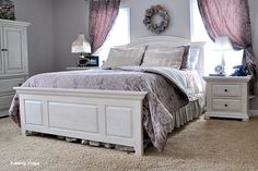 I have this furniture, I must try painting it!!! , From knotty pine to heavenly white bedroom furniture.