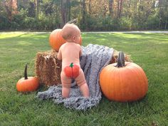 So you want to paint a pumpkin on your baby's bum?  Here's how!