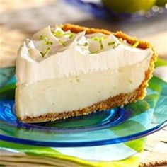 Classic Key Lime Pie, I don't normally use condensed milk, but this is one of my favorite cake in the universe!!