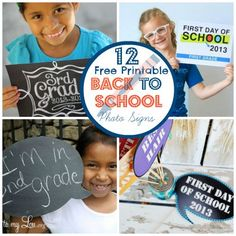 Say Cheese:  Free Printable Back to School Photo Props and Signs
