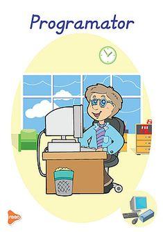 Ilustrații cu meserii și ocupații Preschool Math, Kindergarten, Experiment, Montessori, Teaching, Cards, Fictional Characters, Bebe, Poster