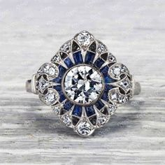 Antique Rings, Antique Jewelry, Vintage Jewelry, Vintage Art, Art Deco Diamond, Diamond Jewelry, Diamond Pendant, Diamond Rings, Vintage Engagement Rings