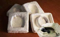 Envase fabricado con hongos y deshechos agrícolas = Buen diseño