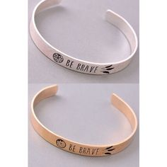 Be Brave Bracelet So cute and simple! PLEASE DO NOT BUY THIS LISTING. Comment with gold or silver and I'll make a new listing for you  Jewelry Bracelets