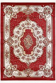 Home Decorators Collection | Clearance 6 7 x 9 6 Feet Versailles Area Rug Red limited Time Offer  Perfect for any floor Rugs  Carpets >>> Check this awesome product by going to the link at the image. Note:It is Affiliate Link to Amazon.