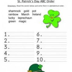 """St. Patricks Day Worksheets, St. Patricks Day Worksheet, Free St. Patricks Day Worksheets, St. Patrick's Day Worksheets, Saint Patricks Day Worksheets, St. Patricks Day Activities, St. Patricks Day Printables"""