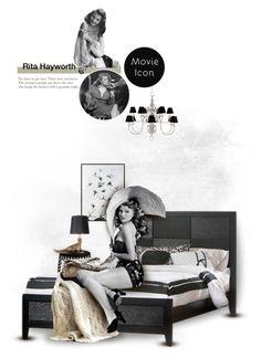 """8.Rita Hayworth"" by chomiczynka ❤ liked on Polyvore featuring art"