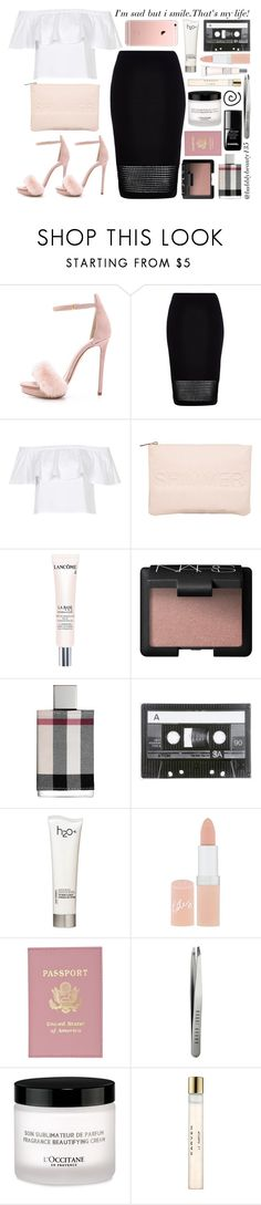 """That's Life!"" by bubblybeauty135 ❤ liked on Polyvore featuring Monique Lhuillier, River Island, Topshop, Miss Selfridge, Lancôme, NARS Cosmetics, Burberry, H2O+, Rimmel and le top"
