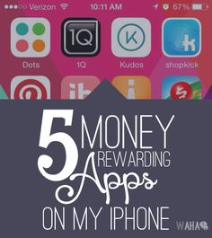 $5 Swagbucks and $5 inboxdollars sign up bonuses.   5 of my favorite Money Earning iPhone apps