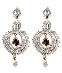 Waama Jewels Adiwitya Delight Cubic Zirconia Alloy Chandelier ...