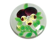 Baccarat pansy paperweight - Miller's Antiques & Collectables Price Guide