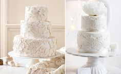 realistic-lace-wedding-cakes.001    Ok! All you Lace Lovers...tell THESE didn't make you swoon, me, too! :)