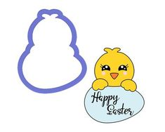 Chick with Egg Plaque Cookie Cutter - The Cookie Cutter Club cookie cutters are affordably priced and come in various sizes and cutting depths. These cookie cutters can be used to make decorated cookies using royal icing. Animal Cookie Cutters, Easter Cookie Cutters, Metal Cookie Cutters, Easter Cookies, Holiday Cookies, Farm Cookies, Cookie Decorating, Egg, Animal Faces