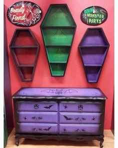 Bildresultat för purple goth room