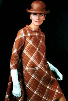 Maud Adams is wearing Pierre Cardin, Vogue Pattern Book Autumn 1967 (N° 1802)