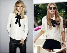 As Camisas e blusas com laço estão de volta! Super elegantes, elas deixam o look mais sério e formal, ótimo opção para looks de trabalho! COMO USAR: V...