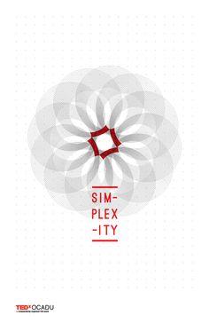 TEDx OCADU: Simplexity by Jessica Lock, via Behance