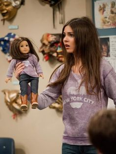 My Mini me!  check out http://www.nick.com/pictures/victorious/victorious-funniest-moments-of-2012-pictures.html to see more of the show's funniest moments!