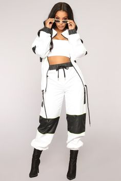 Available In White And OrangeWoven FabricJogger Polyester Swag Outfits For Girls, Sporty Outfits, Stage Outfits, Teen Fashion Outfits, Dance Outfits, Cute Casual Outfits, Look Fashion, Stylish Outfits, Girl Outfits