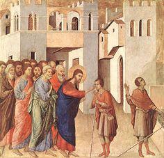 Jésus guérit un aveugle