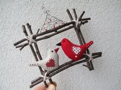OKÝNKO / Zboží prodejce Jalis   Fler.cz Christmas Ornaments, Holiday Decor, Home Decor, Handmade Crafts, Feltro, Decoration Home, Room Decor, Christmas Jewelry, Christmas Decorations