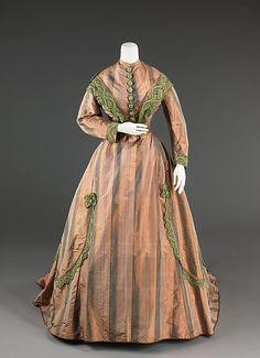 Afternoon Dress, circa 1865