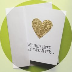 Happily Ever After Card by NutmegNotes on Etsy