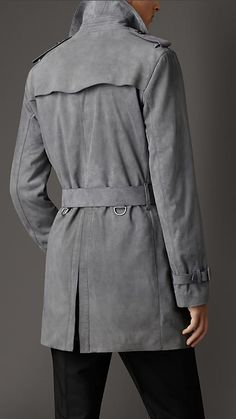 Burberry London Suede Trench Coat