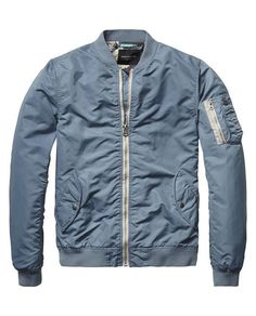 The perfect Summer Bomber Jacket is finally here courtesy of Scotch and  Soda. The Parisian Blue color is a rare look and really stands out. 371bab40e8fdc