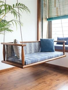 The Teak Wood Furniture in This Home Combines Traditional Purpose & Modern Lifes. - The Teak Wood Furniture in This Home Combines Traditional Purpose & Modern Lifestyle Source by - Indian Home Interior, Indian Interiors, Diy Interior, Best Interior Design, Interior Doors, Best Home Design, Interior Balcony, Balcony Design, Wood Interiors